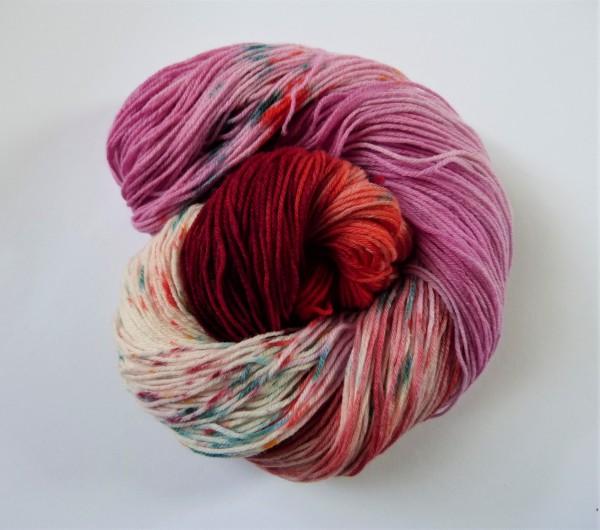Hightwist Sockenwolle handgefärbt 100g Freizeitvergnügen