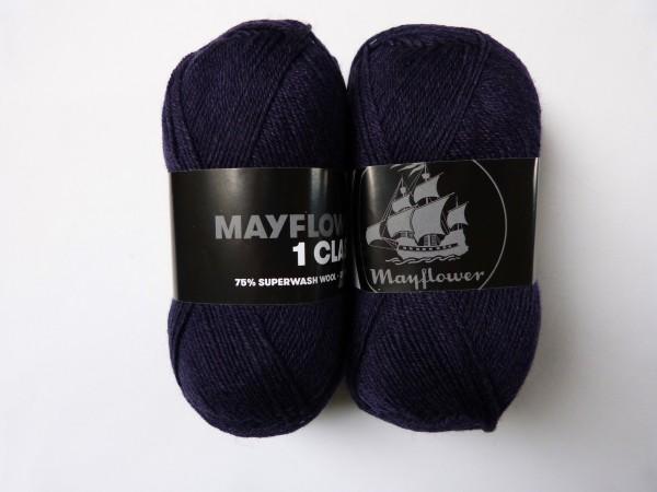 Mayflower Sockenwolle 1 Class uni 50g, Fb. 2005 Dunkellila