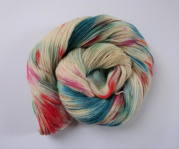 Sockenwolle handgefärbt 100g, Monet II