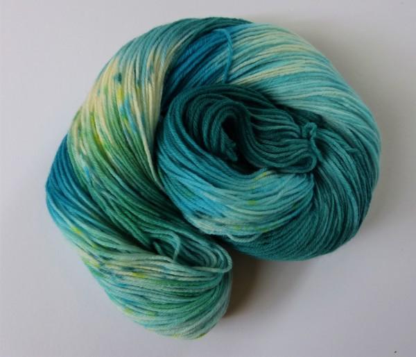 High Twist Sockenwolle handgefärbt 100g, Karibik