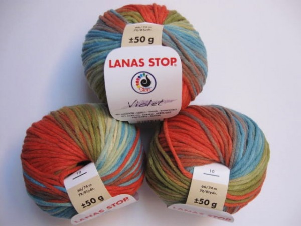 Lanas Stop Wolle Violet 50g, Fb. 292