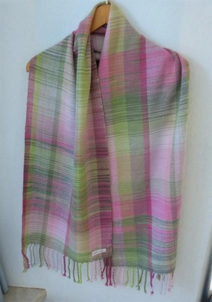 Handgewebter leichter Schal aus Baby Merino
