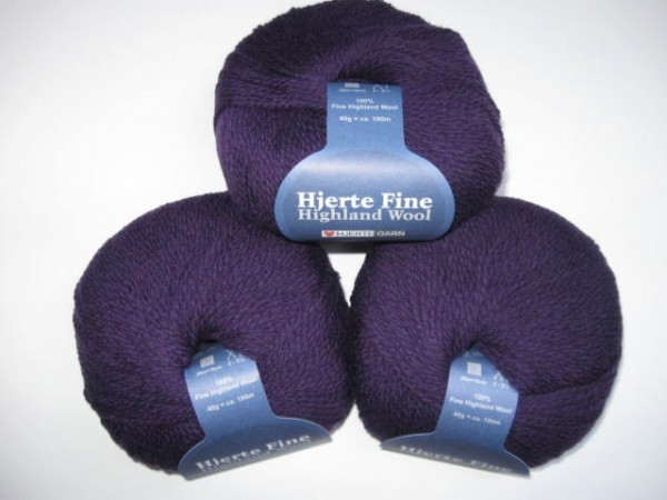Hjertegarn Highland Wool 40g, Fb. 1800