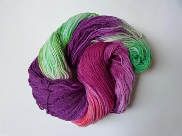 High Twist handgefärbt 100g, Lila Veilchen