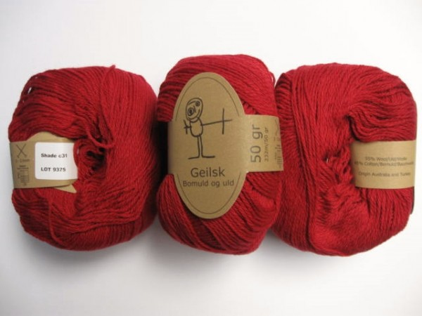 Geilsk Wolle Bomuld og uld 50g, Fb. C 31