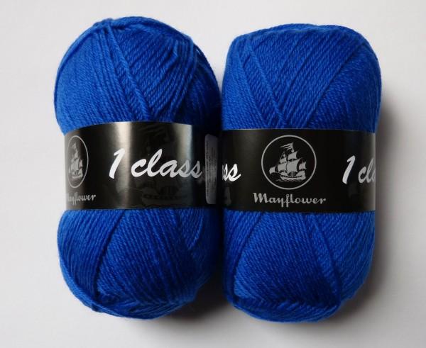 Mayflower Sockenwolle 1 Class uni 50g, Fb. 2029 Kobaltblau
