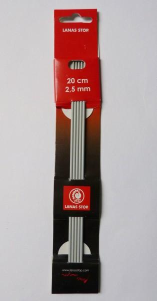 Lanas Stop Nadelspiel Alu 2,5mm/20cm