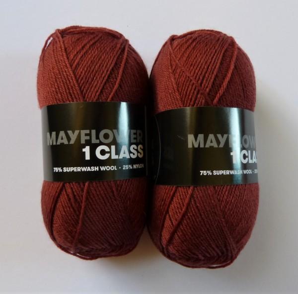 Mayflower Sockenwolle 1 Class uni 50g, Fb. 2085 dunkler Ocker