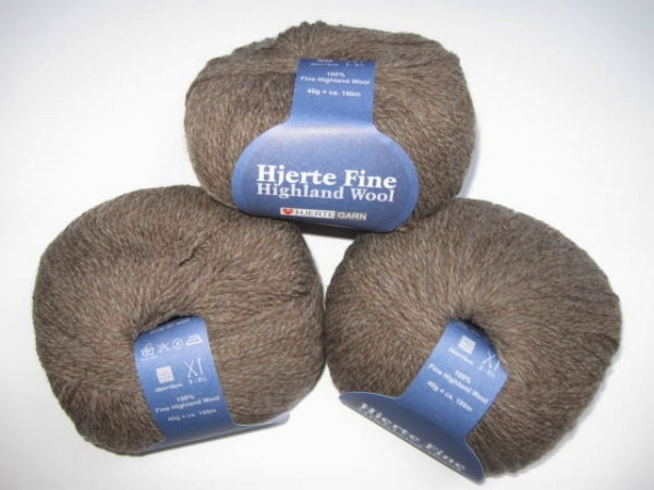 Hjertegarn Highland Wool 40g, Fb. 211
