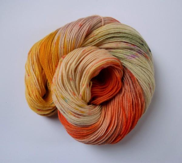 Hightwist Sockenwolle handgefärbt 100g Ranunculus