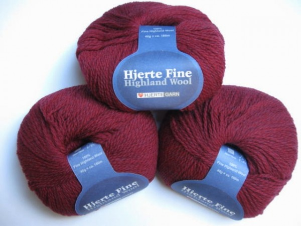 Hjertegarn Highland Wool 40g, Fb. 821