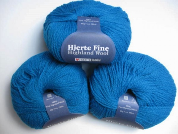Hjertegarn Highland Wool 40g, Fb. 1590