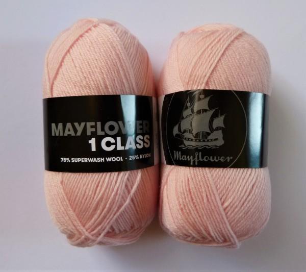 Mayflower Sockenwolle 1 Class uni 50g, Fb. 2006 helles rosa
