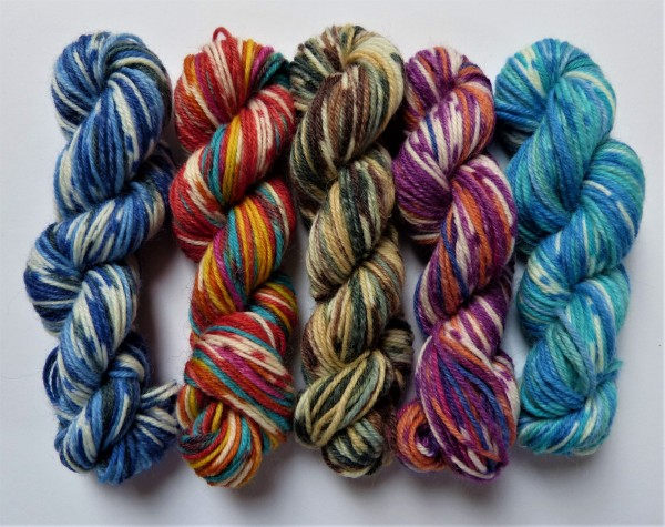 5 Mini-Stränge Sockenwolle 50g Joy von Opal