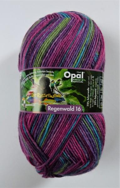Opal Sockenwolle Regenwald 16 Die Rasselbande 100g, Fb. 9905