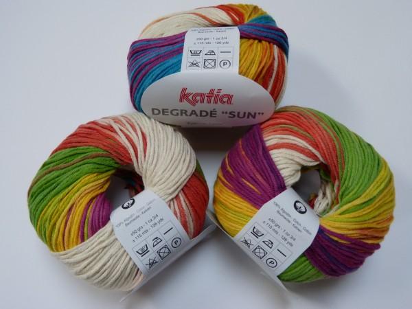 Katia Wolle Degrade Sun 50g, Fb. 95