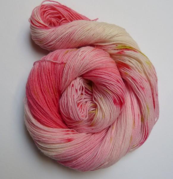 Sockenwolle handgefärbt 100g, Valentines