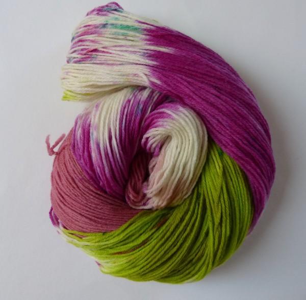 High Twist Sockenwolle handgefärbt 100g, Orchidee