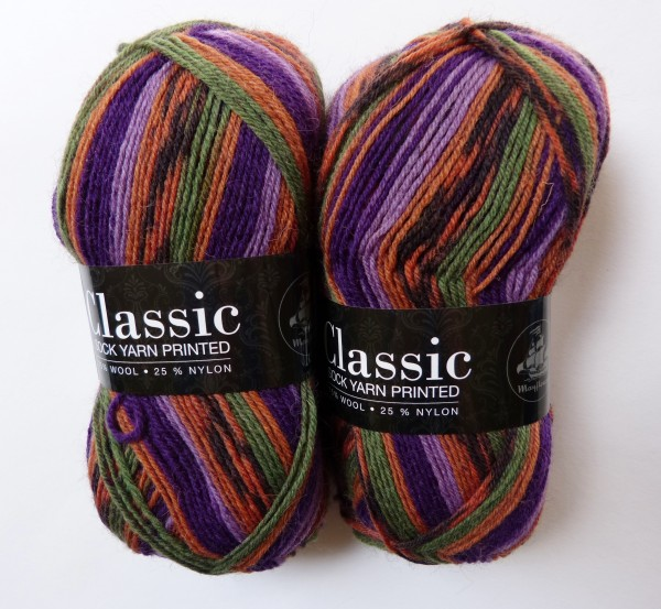Classic Sock Yarn Printed 50g, Fb. 07 Sonnenuntergang