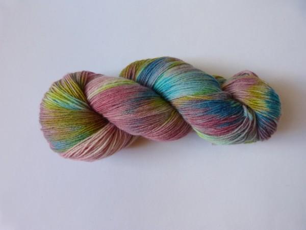 Sockenwolle handgefärbt 100g, Monet I