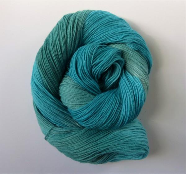 Sockenwolle handgefärbt 100g, Am Meer II