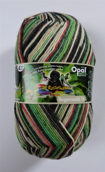 Opal Sockenwolle Regenwald 16 Die Rasselbande 100g, Fb. 9904