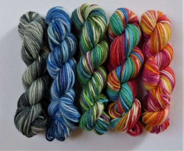 5 Mini-Stränge Sockenwolle 50g 25 Jahre Opal Jubiläumskollektion