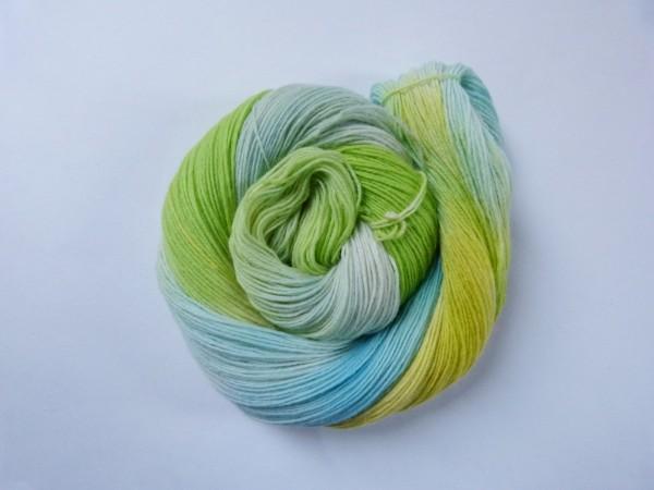Sockenwolle handgefärbt 100g,Waldmeister