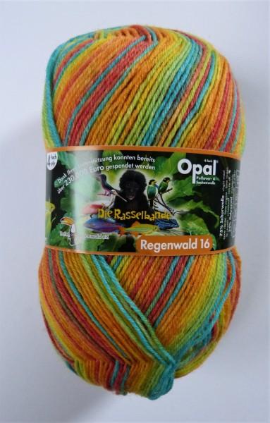 Opal Sockenwolle Regenwald 16 Die Rasselbande 100g, Fb. 9907