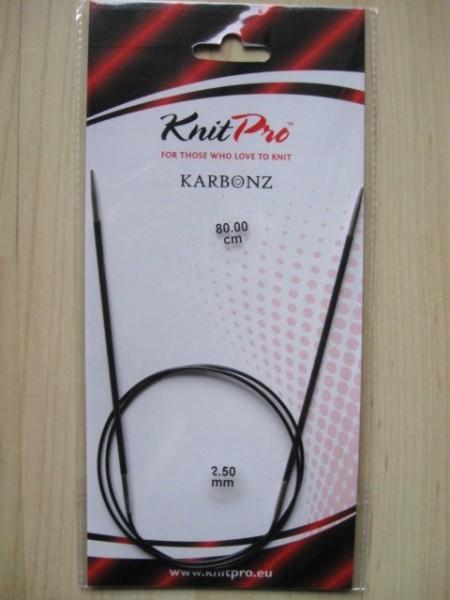 Knit Pro Karbonz Rundstricknadel 2,5mm 80cm