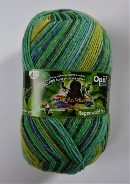 Opal Sockenwolle Regenwald 16 Die Rasselbande 100g, Fb. 9901