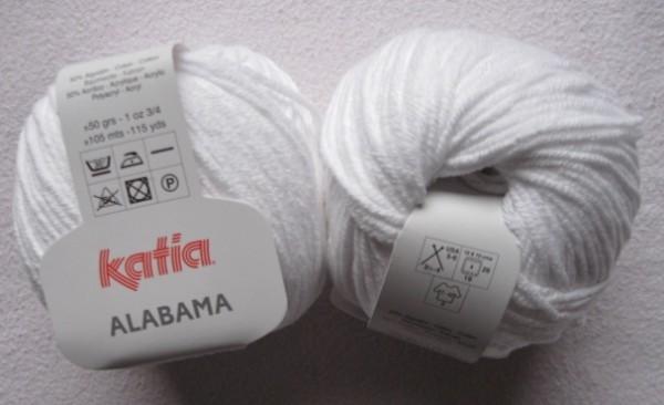 Katia Wolle Alabama 50g, Fb. 1