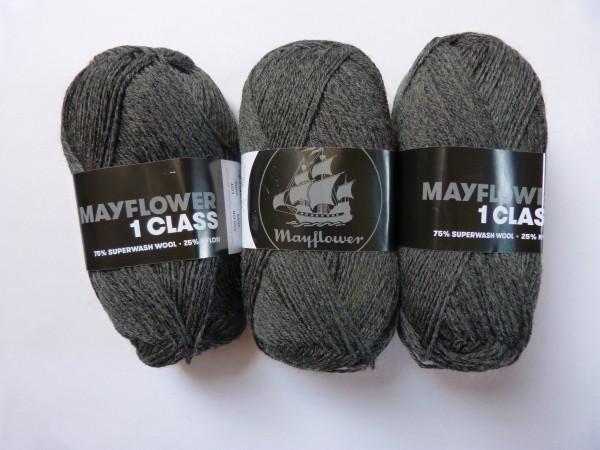 Mayflower Sockenwolle 1 Class uni 50g, Fb. 2053 Grau