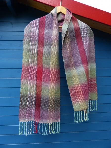 Handgewebter Schal mit Merino