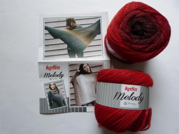 Katia Wolle Melody 100g, Fb. 206