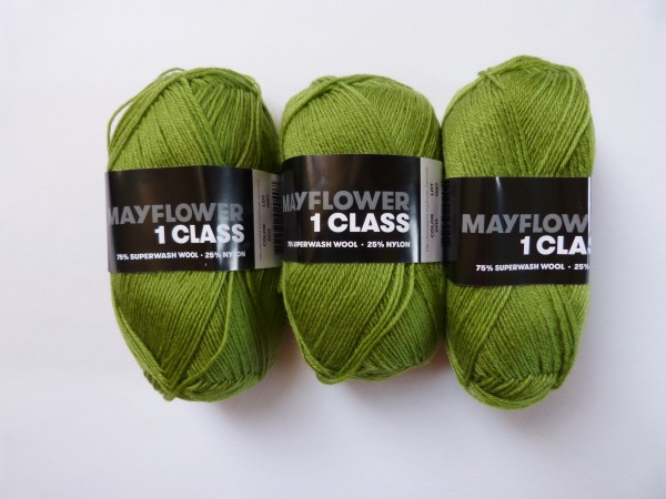 Mayflower Sockenwolle 1 Class uni 50g, Fb. 2013 Hellgrün