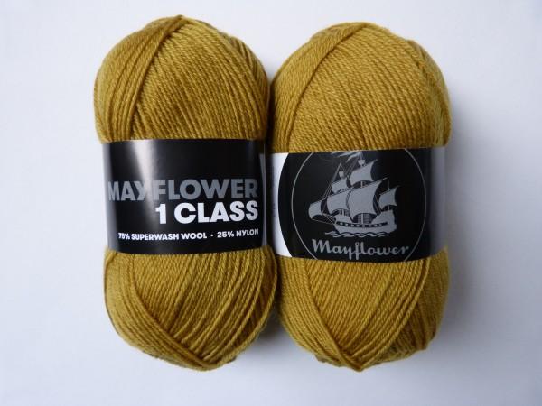 Mayflower Sockenwolle 1 Class uni 50g, Fb. 2033 Senf